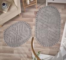 """Набор ковриков для ванной """"MODALIN"""" кружевной CROSS 60x100 + 50x70 см 1/2"""