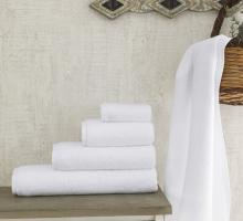 """Полотенце махровое белое, гостиничное """"FORS"""" 400 гр 50х100 см 1/1"""