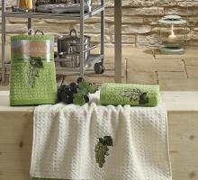 """Кухонные полотенца махровые """"KARNA"""" LEMON 45x65 1/2 Зеленый"""