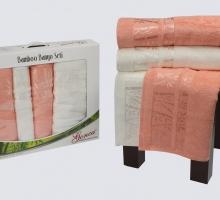 """Комплект полотенец бамбук """"GONCA"""" LARA 50x90*2-90x150*2 см 1/4"""