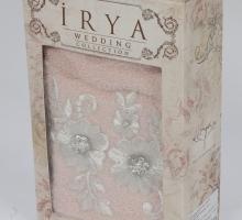 """Полотенце махровое в коробке """"IRYA"""" c вышивкой BELOVED (50x90) см 1/1"""
