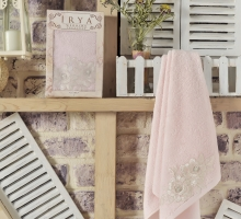 """Полотенце махровое в коробке """"IRYA"""" французский ROMANTIC гипюром (50x90) см 1/1"""