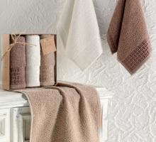 """Кухонные полотенца махровые """"KARNA"""" жаккард ETIYOPYA 30x50 см 1/3"""