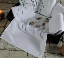 """Полотенце махровое """"KARNA"""" белое, гостиничное """"EPONJ"""" 400gsm 16/1 70x140 см 1/1"""