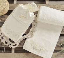 """Полотенце махровое в коробке """"IRYA"""" c вышивкой ROSE (85x150) см 1/1"""