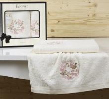 "Комплект полотенец бамбук ""LUCENTE"" CORONA 50х90-70х140 см"