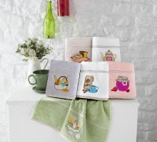 "Кухонные полотенца махровое ""KARNA"" BREAKFAST 45х70 см 1/1"