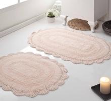 """Набор ковриков для ванной """"MODALIN"""" кружевной DIANA 50x80 + 45x60 см 1/2"""