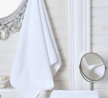 """Полотенце махровое """"KARNA"""" белое, гостиничное (100x150) см 1/1"""