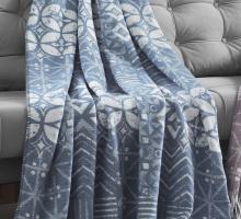 "Плед KARNA хлопок ""DECO"" ( Голубой ) 150x240 см"