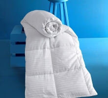 """Одеяло """"KARNA"""" сатин полосатый VIA (195x215) см"""