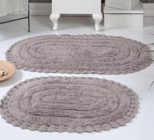"""Набор ковриков для ванной """"KARNA"""" кружевной YANA 60x100 + 50x70 см 1/2"""